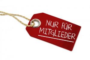 Anhnger, Label mit Nur fr Mitglieder